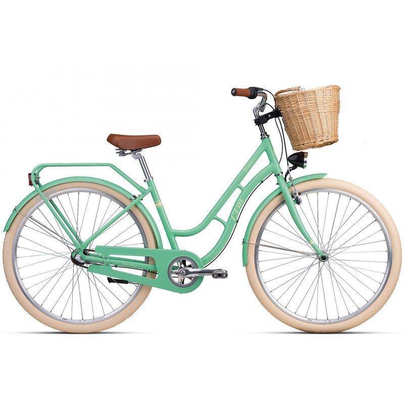 "Sieviešu velosipēds CTM City Summer 28"" Light green"