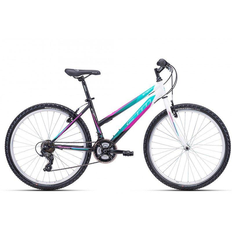 "Sieviešu velosipēds CTM MTB Hi Ten Stefi 1.0 26"" White Blue"