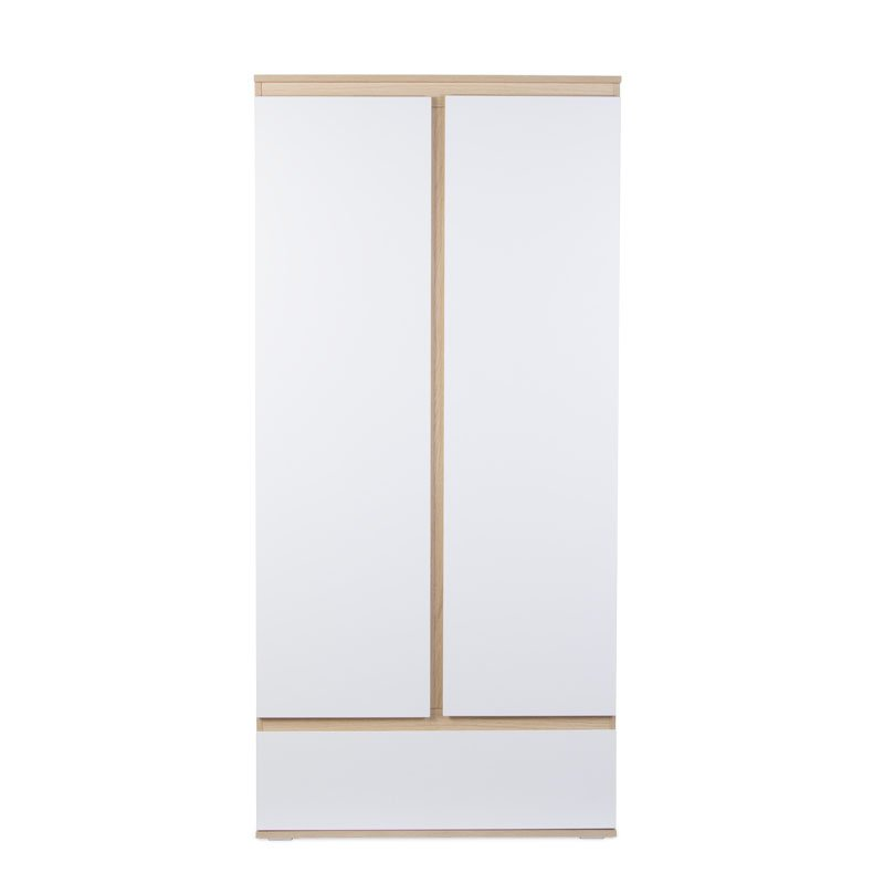 Skapis CHILDHOME Palma White Oak Wardrobe 2 Doors+Drawer