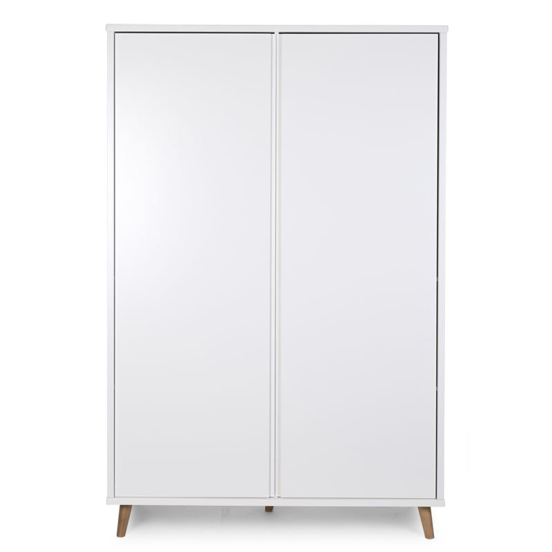 Skapis CHILDHOME Retro Rio White Wardrobe 2 Doors