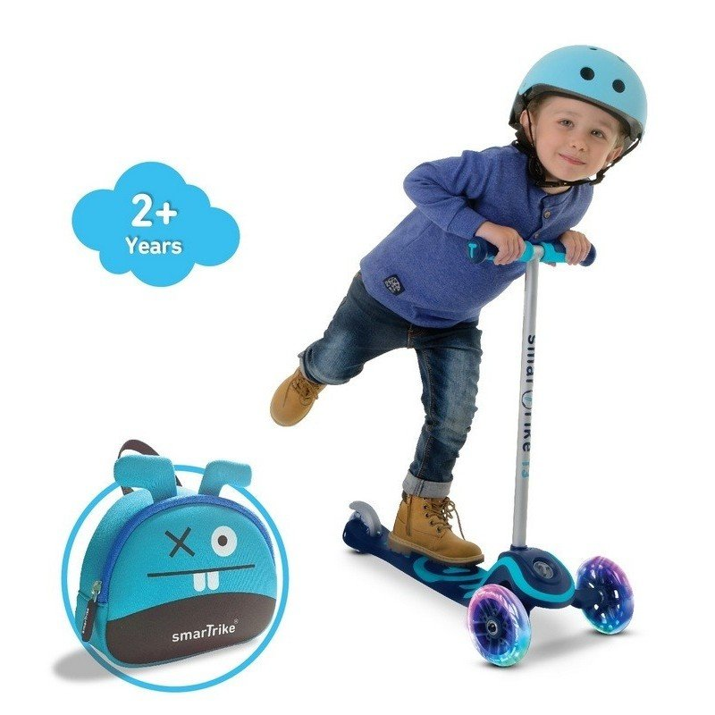 Skrejritenis Smart Trike Scooter T3 + LED mirdzoši riteņi + Soma Mint