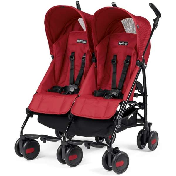 Sporta rati diviem PEG-PEREGO Pliko Mini Twin Geo Red IP04280035SU49SR49