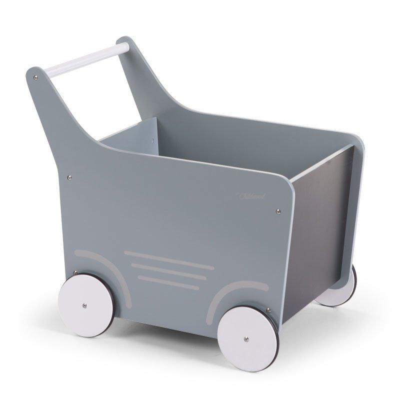 Stumjamā koka rotaļlieta CHILDHOME Wooden Stroller mint
