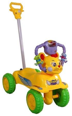 Stumjama mašīna + rokturis ARTI FUNNY yellow