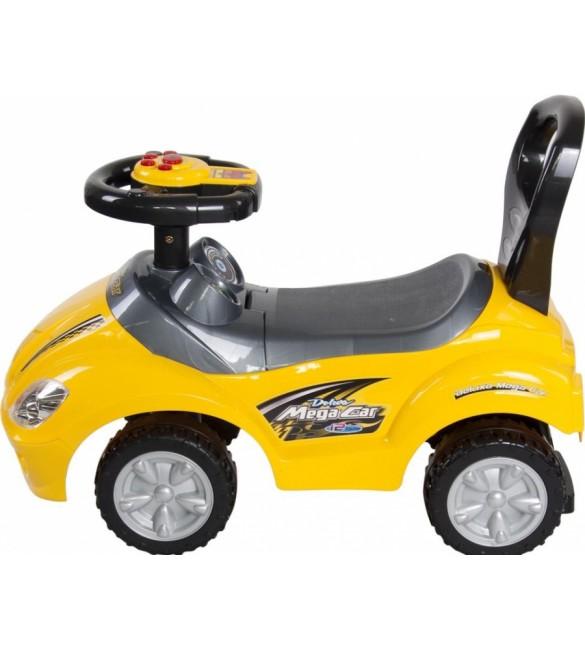 Stumjamā Mašīna Sunbaby MEGA CAR yellow J05.007.1.2