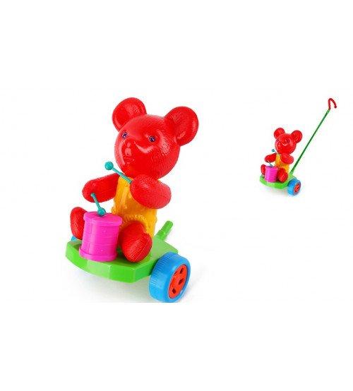 Stumjamā plastmasas rotaļlieta ar kociņu - lācis 340251