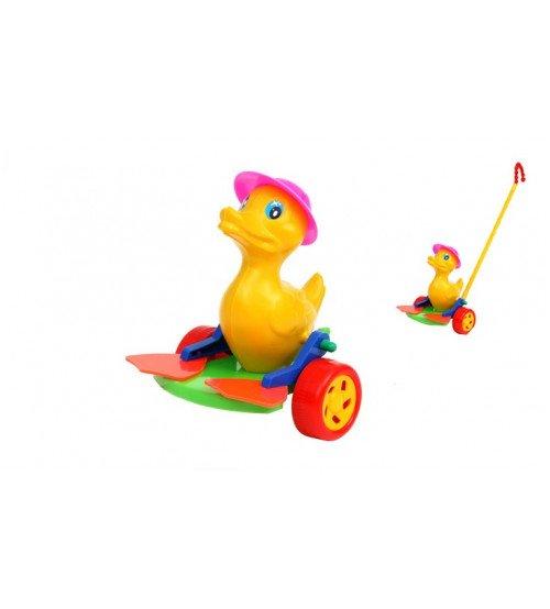 Stumjamā plastmasas rotaļlieta ar kociņu - pīle ar pleznām 340398
