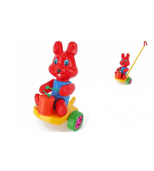 Stumjamā plastmasas rotaļlieta ar kociņu - trusis 340367