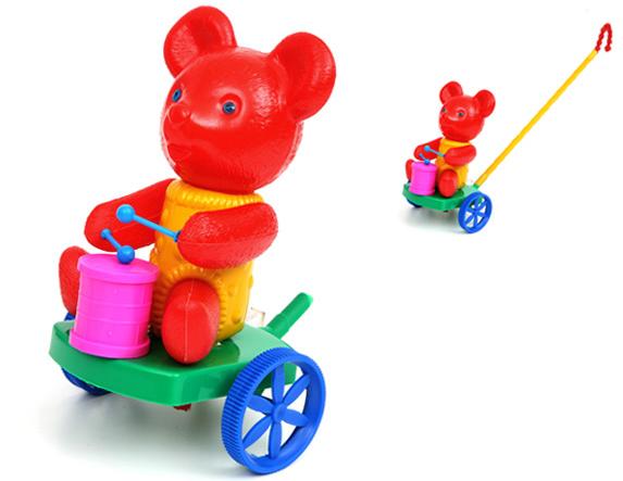 Stumjamā rotaļlieta Lācitis ar bungām SUCHANEK 251