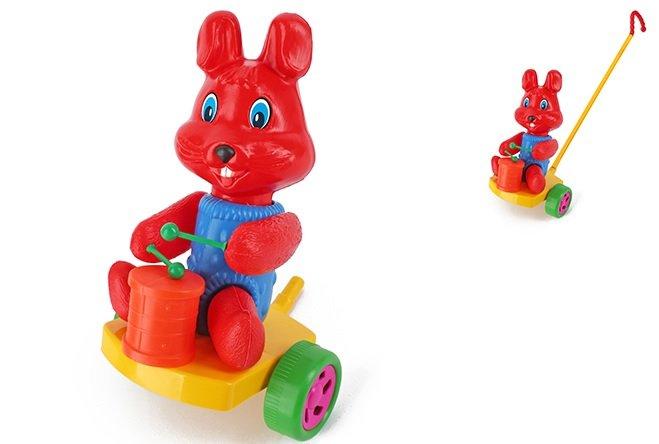 Stumjamā rotaļlieta Trusis ar bungām SUCHANEK 367
