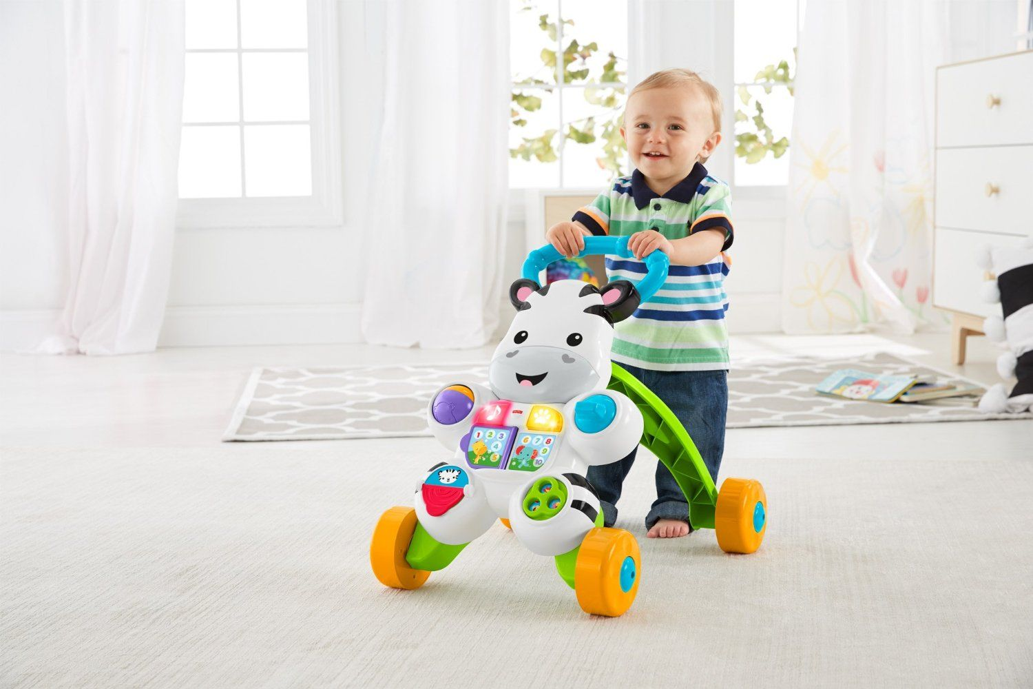 Stumjamais staigulis Fisher Price Learn with Me Zebra Walker RU DPL54