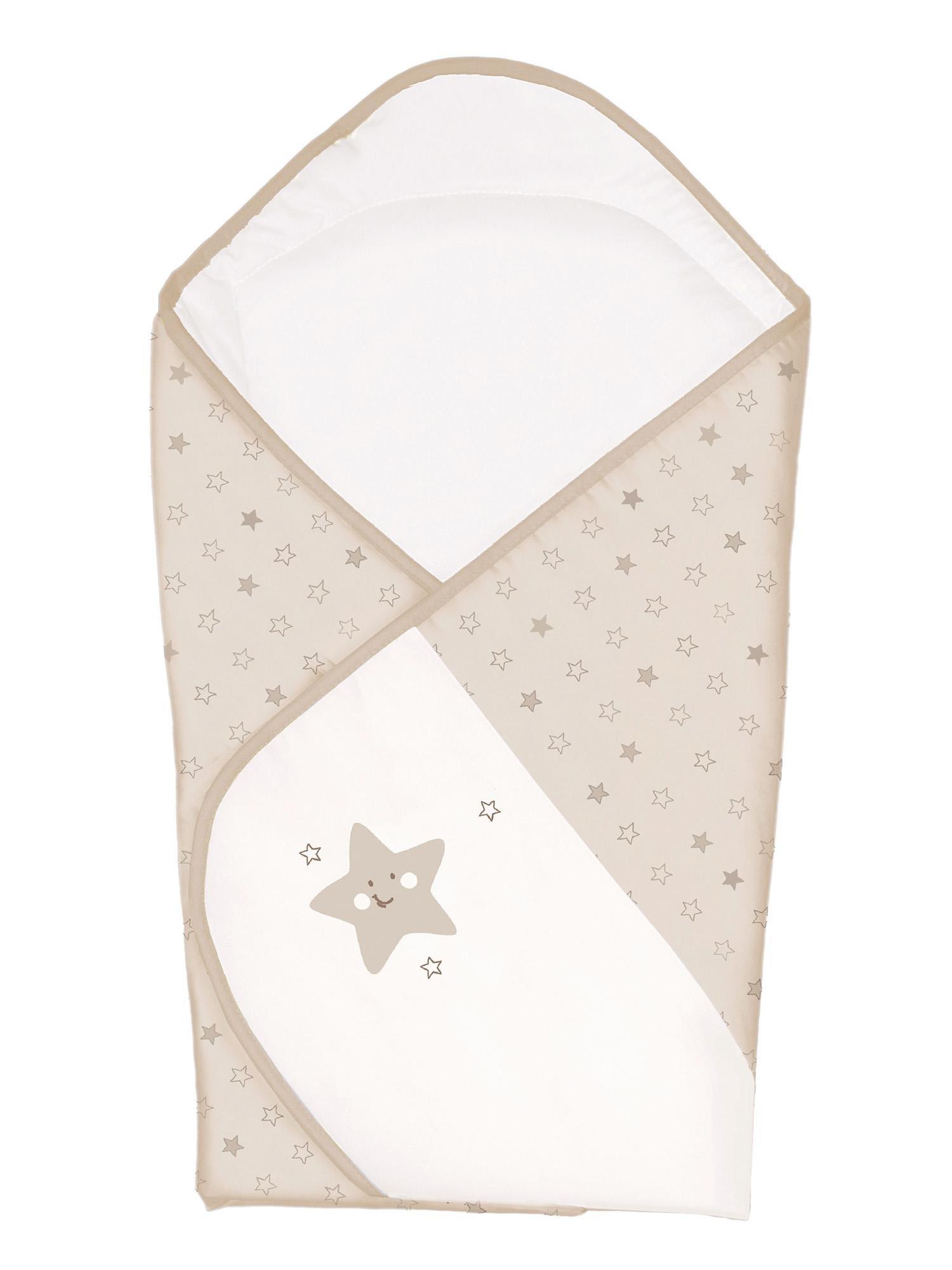 Stūrītis-sega 78x78 cm CEBA BABY STARS beige 810.STARSBE