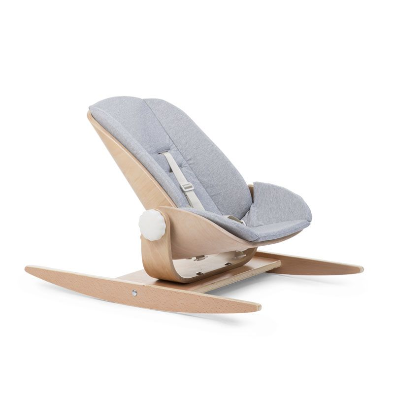 Šūpuļkrēsla ieliktnis CHILDHOME Cushion Jersey Wood Rock Seat grey