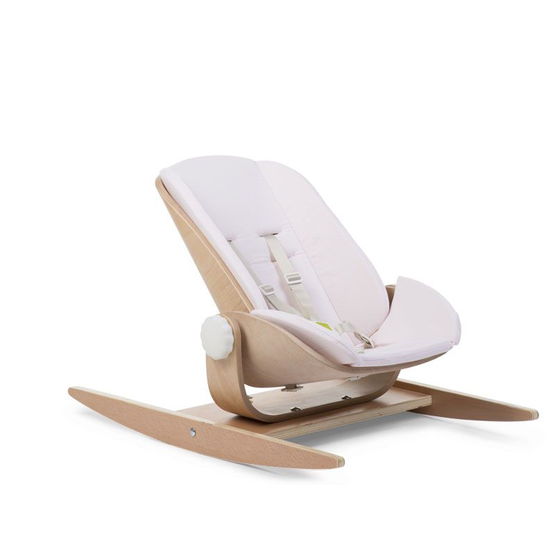 Šūpuļkrēsla ieliktnis CHILDHOME Cushion Jersey Wood Rock Seat pink