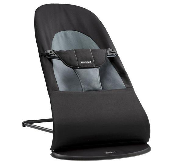 Šūpuļkrēsliņš BabyBjorn Bouncer Balance Soft Cotton black/dark grey 005022