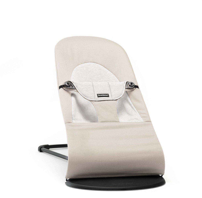 Šūpuļkrēsliņš BabyBjorn Bouncer Balance Soft cotton/jersey beige/grey 005083