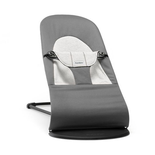 Šūpuļkrēsliņš BabyBjorn Bouncer Balance Soft cotton/jersey dark grey/grey 005084