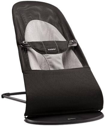 Šūpuļkrēsliņš BabyBjorn Bouncer Balance Soft Mesh black/grey 005028