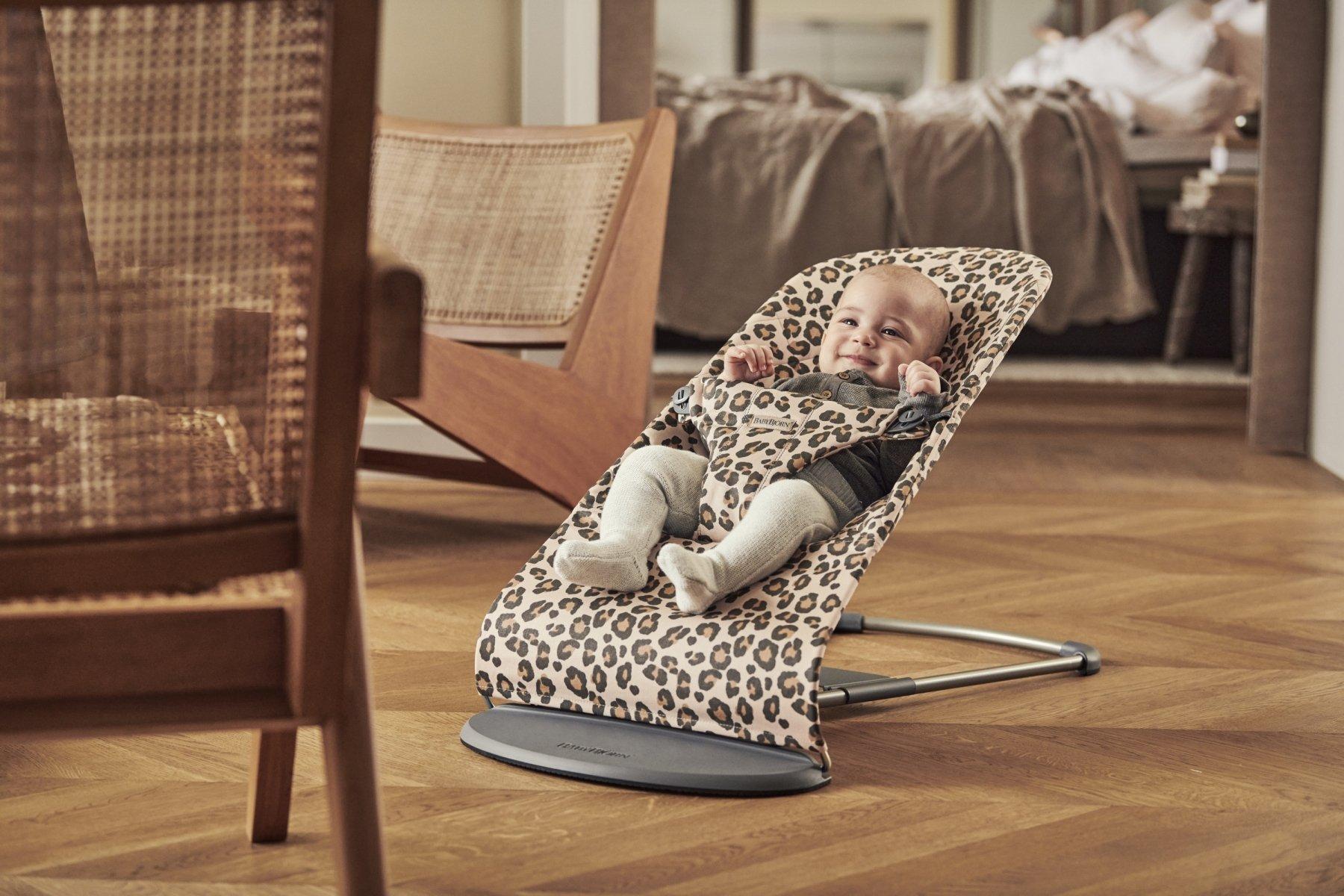 Šūpuļkrēsliņš BabyBjorn Bouncer Bliss Beige leopard Cotton 6075