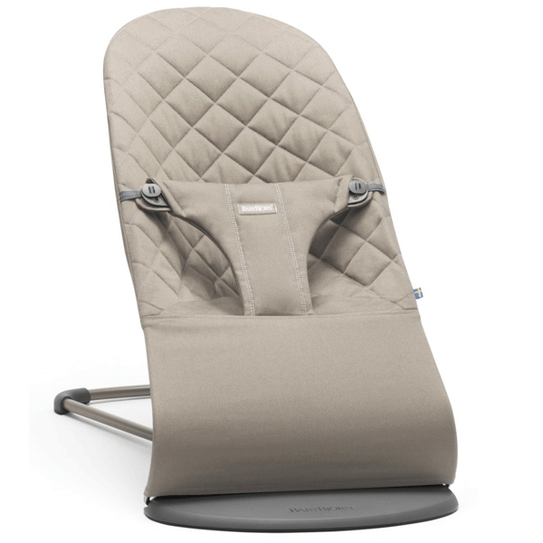 Šūpuļkrēsliņš BabyBjorn Bouncer Bliss Cotton sand grey 006017