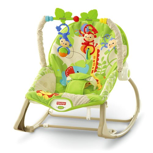Šūpuļkrēsliņš Fisher Price Infant to Toddler Rocker Rainforest Friends