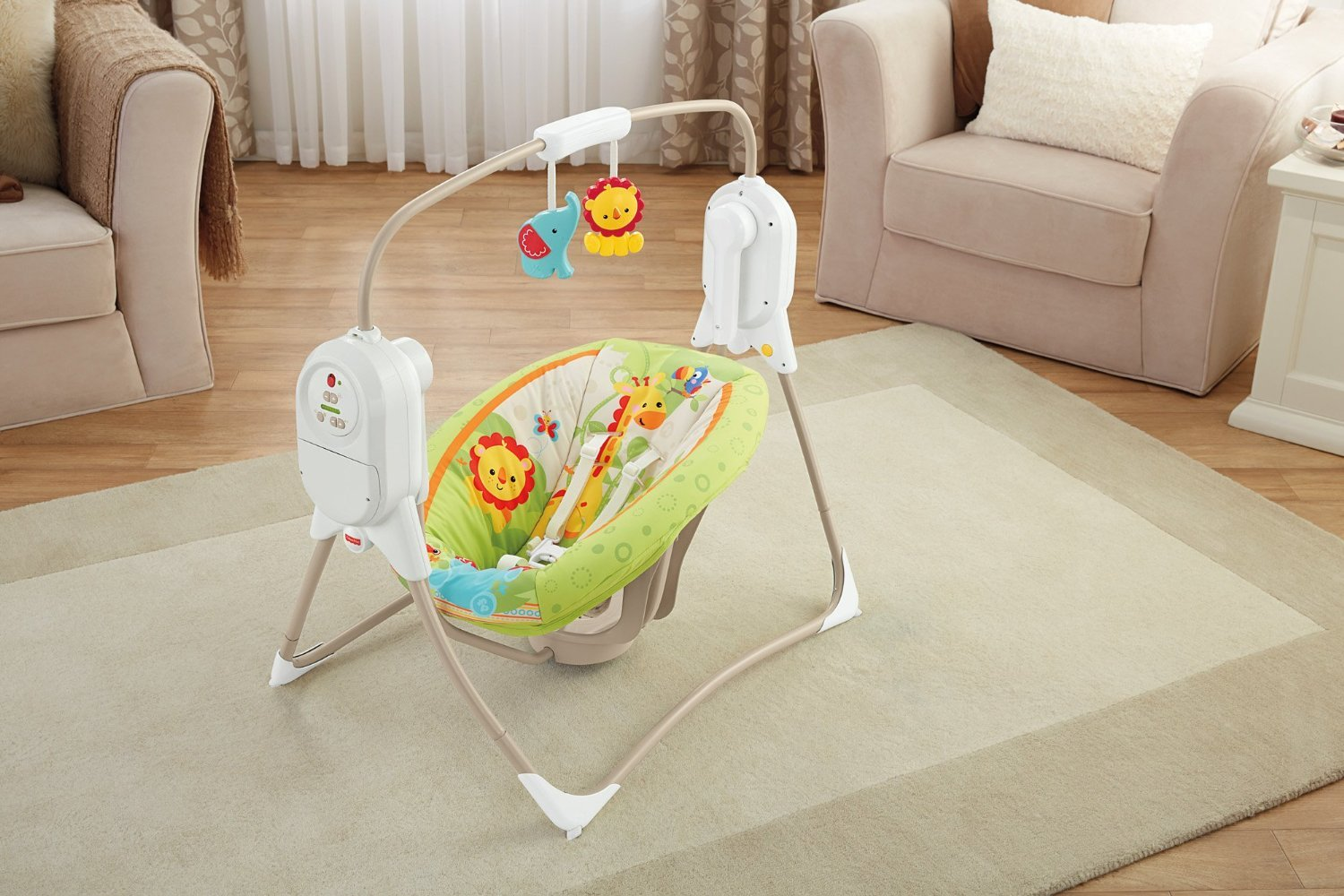 Šūpuļkrēsliņš Fisher Price Mini Cradle Swing-Smart Tech. RF BFH05