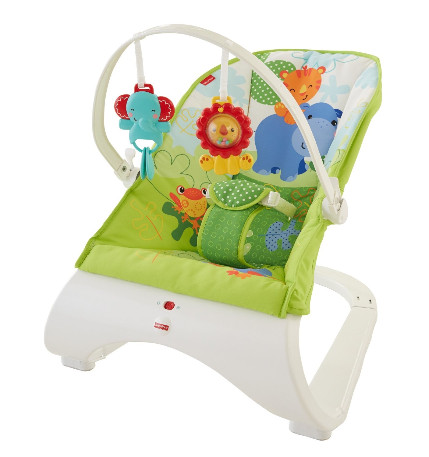 Šūpuļkrēsliņš Fisher Price Rainforest Friends Comfort Curve Bouncer CJJ79