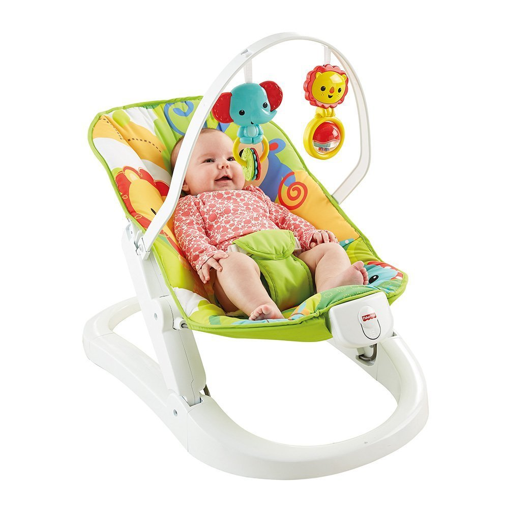 Šūpuļkrēsliņš Fisher Price Rainforest Friends Fun 'n Fold Bouncer CMR20