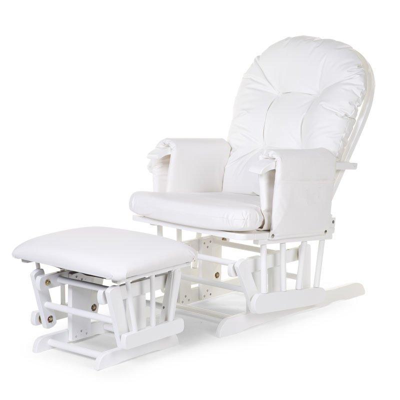 Šūpuļkrēsls māmiņai CHILDHOME GLIDING CHAIR WHITE