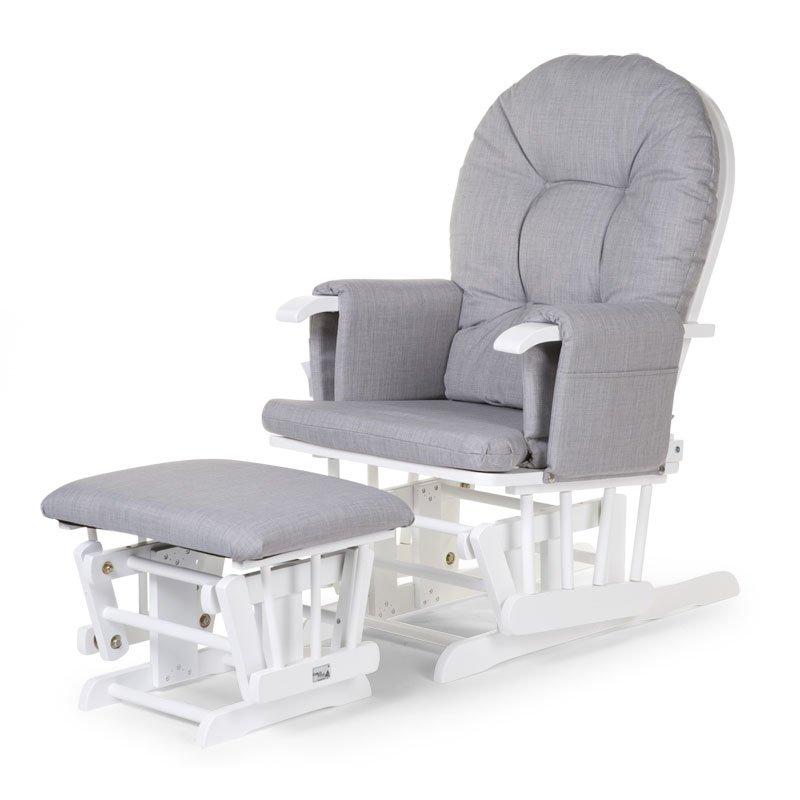 Šūpuļkrēsls māmiņai CHILDHOME Round Beech canvas grey