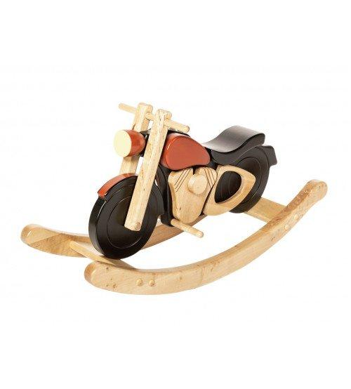 Šūpuļmotocikls koka HARLEY melns/sarkans NK-4A