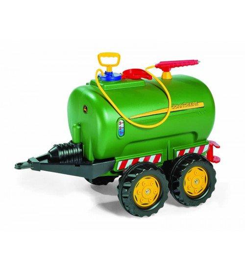 Tankers ūdenim traktoriem ar 5 metru ūdeni šāvēju Rolly Toys rollyTanker John Deere 122752