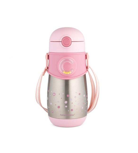Termokrūze ar salmiņu 300 ml Canpol pink 74/054