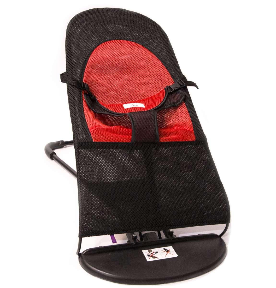 TLC Bouncer Balance Soft Mazuļu kvalitatīvs, ergonomisks šūpuļkrēsliņš (analogs Babybjorn Balance Soft) red