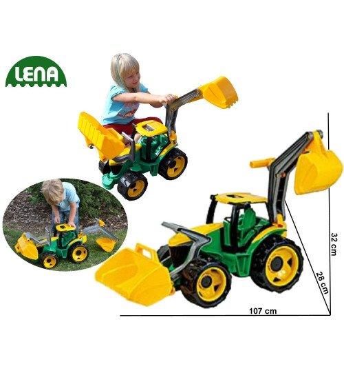 Traktors ar kausu un iekrāvēju 107 cm LENA MAXI L02080 (kastē)