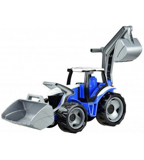 Traktors ar kausu un iekrāvēju 107 cm LENA MAXI zilā krāsa (kastē) L02081Z
