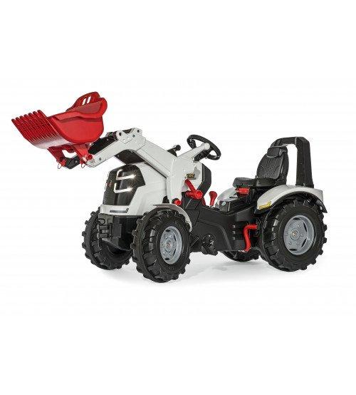 Traktors ar pedāļiem ar kaus, 2 ātrumi, LED gaismiņām un bremze Rolly Toys rollyX-Trac Premium  (3 - 10 gadiem) 651085