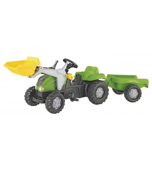 Traktors ar pedāļiem ar kausu un piekabi Rolly Toys Rolly KID 023134