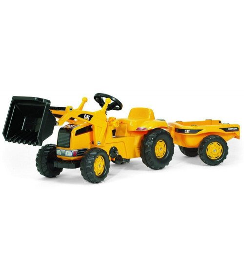 Traktors ar pedāļiem ar kausu un piekabi Rolly Toys Rolly Kid CAT (2,5-5 gadiem) 023288