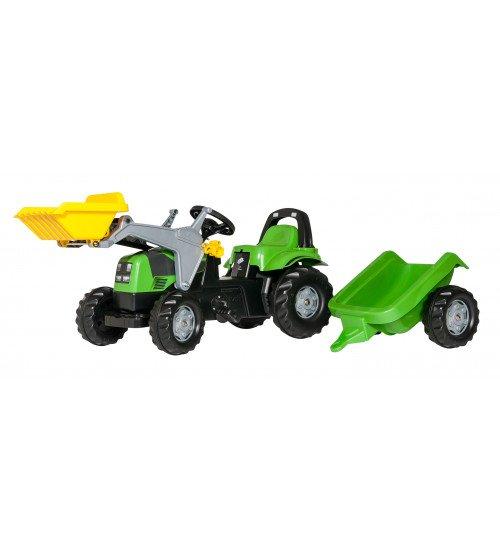Traktors ar pedāļiem ar kausu un  piekabi Rolly Toys Rolly KID Deutz 023196
