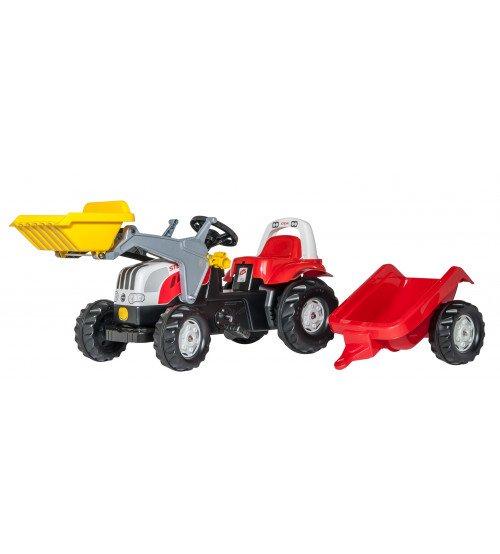 Traktors ar pedāļiem ar kausu un piekabi Rolly Toys  Rolly KID Steyr  023936