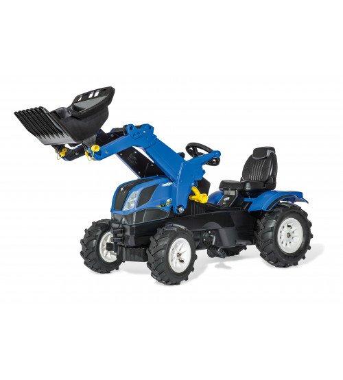 Traktors ar pedāļiem ar kausu un piepuš. riteņ. Rolly Toys rollyFarmtrac New Holland (3 - 8 gadiem) 611270