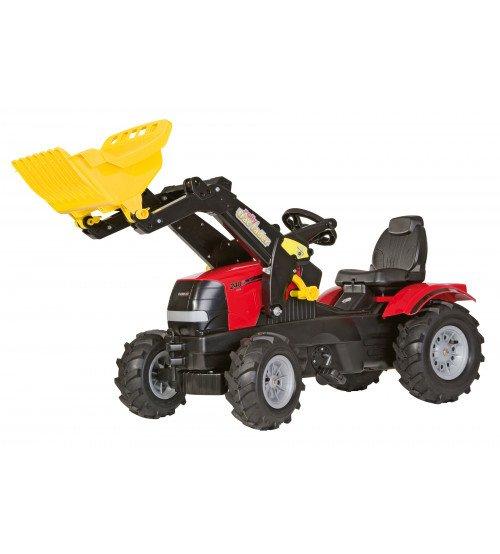 Traktors ar pedāļiem ar kausu un piepūš. riteņiem Rolly Toys rollyFarmtrac Case Puma CVX 240 ( 3 - 8 gadiem) 611126