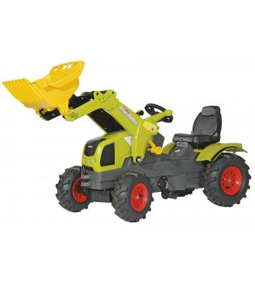 Traktors ar pedāļiem ar kausu un piepūš. riteņiem Rolly Toys rollyFarmtrac Claas Axos  ( 3 - 8 gadiem) 611072