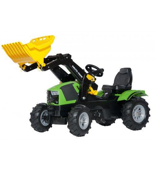 Traktors ar pedāļiem ar kausu un piepūš. riteņiem Rolly Toys rollyFarmtrac Deutz-Fahr 5120 ( 3 - 8 gadiem)611218