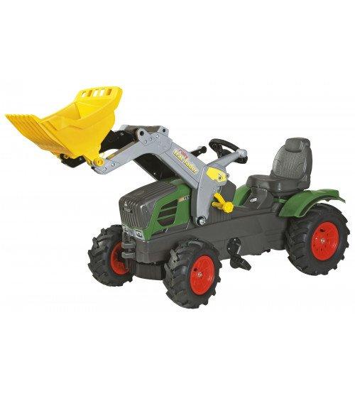 Traktors ar pedāļiem ar kausu un piepūš. riteņiem Rolly Toys  rollyFarmtrac Fendt 211 Vario ( 3 - 8 gadiem) 611089