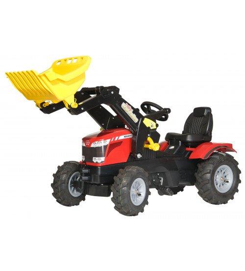 Traktors ar pedāļiem ar kausu un piepūš. riteņiem Rolly Toys rollyFarmtrac MF 7726 ( 3 - 8 gadiem)  611140
