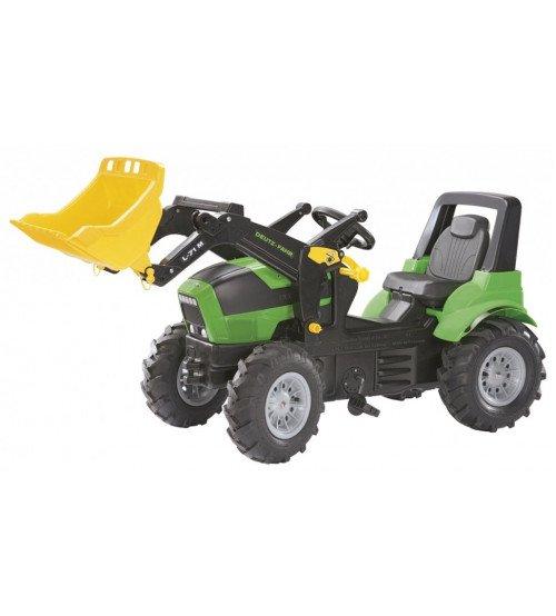 Traktors ar pedāļiem ar noņemāmo kausu un piepūš.riteņ. Rolly Toys rollyFarmtracDeutz Agrotron 7250 TTV ( 3 - 8 gadiem)710133