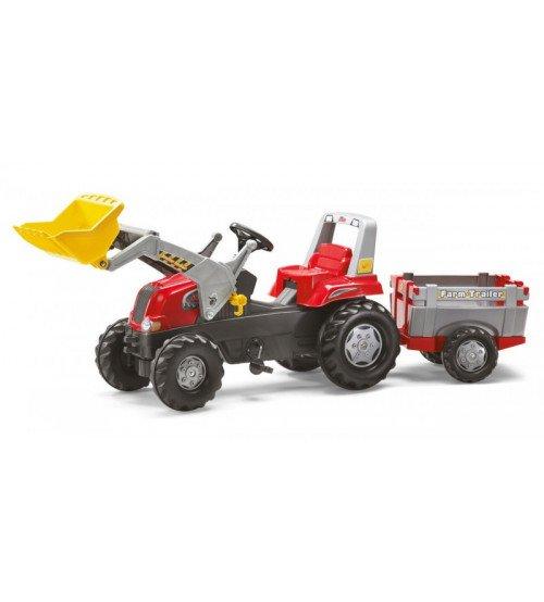 Traktors ar pedāļiem ar piekabi un kausi Rolly Toys rollyFarmtrac Junior RT (3-8 gadiem) 811397