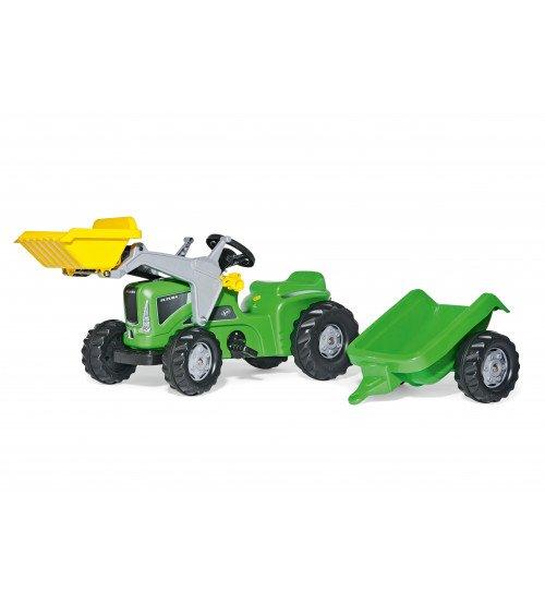 Traktors ar pedāļiem ar piekabi un kausu Rolly Toys rollyKiddy Futura  (2,5-5 gadiem ) 630035